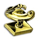 Lamp of Knowledge Chenille Letter Pin Scholastic Trophy Awards