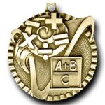 Value Medal -Math Scholastic Trophy Awards