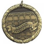 XR Medals -Perfect Attendance  Scholastic Trophy Awards