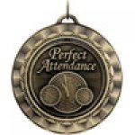 Spinner Medals -Perfect Attendance Scholastic Trophy Awards