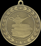 Illusion Medals -Lamp of Knowledge  Scholastic Trophy Awards