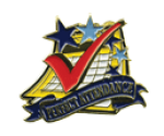 Bright Gold Educational Perfect Attendance Lapel Pin Scholastic Trophy Awards