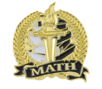 Bright Gold Academic Math Lapel Pin Scholastic Trophy Awards