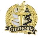 Bright Gold Academic Citizenship Lapel Pin Scholastic Trophy Awards