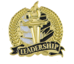 Bright Gold Academic Leadership Lapel Pin Scholastic Trophy Awards