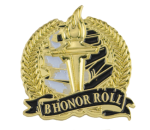 Bright Gold Academic B Honor Roll Lapel Pin Scholastic Trophy Awards