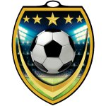 Vibraprint? Shield Medallion -Soccer  Soccer Trophy Awards