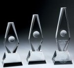 Golf Ball Diamond Trophy Crystal Award Sport Crystal Awards