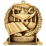 Standup Medal -Book & Lamp Standup Medal Awards