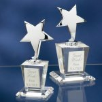 Chrome Stars with Crystal Bases Star Awards