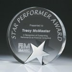 Top Star Circle Crystal Award Star Crystal Awards