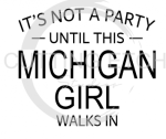 MI - It's Not a Party Until This MI Girl Walks In  States Designs