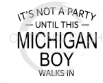 MI - It's Not a Party Until This MI Boy Walks In States Designs