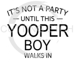 MI - It's Not a Party Until This Yopper Boy Walks In  States Designs