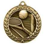 Wreath Award Medallion -Tennis Tennis Trophy Awards
