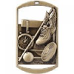 Dog Tag Medals -Track and Field Track Trophy Awards