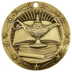 World Class Medal -Book & Lamp  World Class Medal Awards
