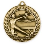Wreath Award Medallion -Gymnastics Female Wreath Antique Medal Awards