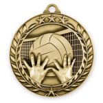 Wreath Award Medallion -Volleyball Wreath Antique Medal Awards