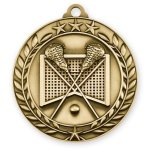 Wreath Award Medallion -Lacrosse Wreath Antique Medal Awards