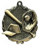 Wreath Medal -Baseball Wreath Medal Awards