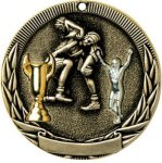 Tri-Colored Series Medals -Wrestling Wrestling Trophy Awards