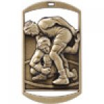 Dog Tag Medals -Wrestling  Wrestling Trophy Awards